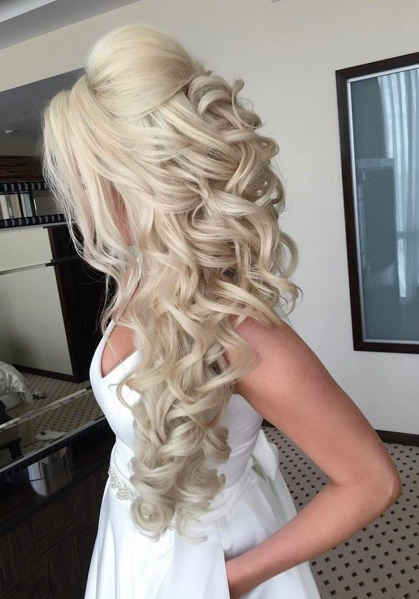 Long wedding updos and hairstyles from Elstile #wedding #weddinghairstyles #wedd...