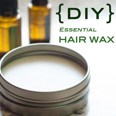 Jazz up your hair with this great DIY Hair Wax made with essential oils! Great f...