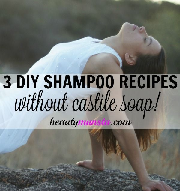 Looking for non-sudsy DIY shampoos?! Here are 3 homemade shampoo recipes without...