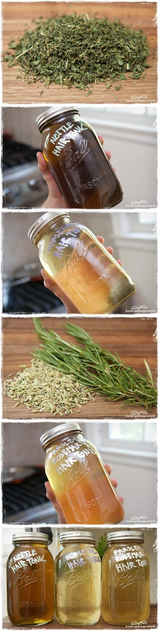3 Hair Tonics for Strong, Healthy and Shiny Hair. The actual recipes are here ev...