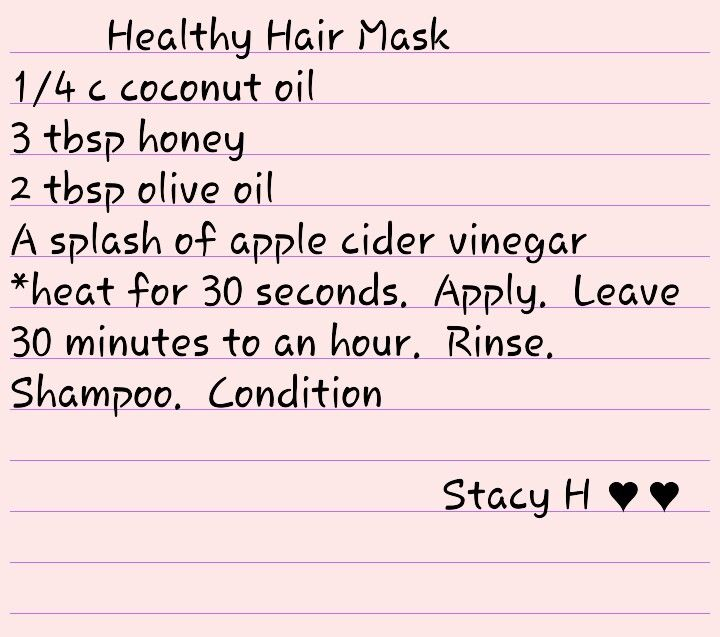 Healthy Hair Mask.....for that long hair!