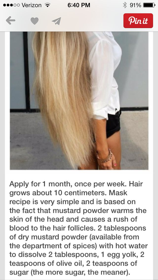 Mustard power hair mask for growth. I am doing this but not this often because h...
