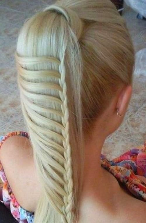 5 Coolest Hairstyles for School: Looks really simple!!! Easy braid with a french...