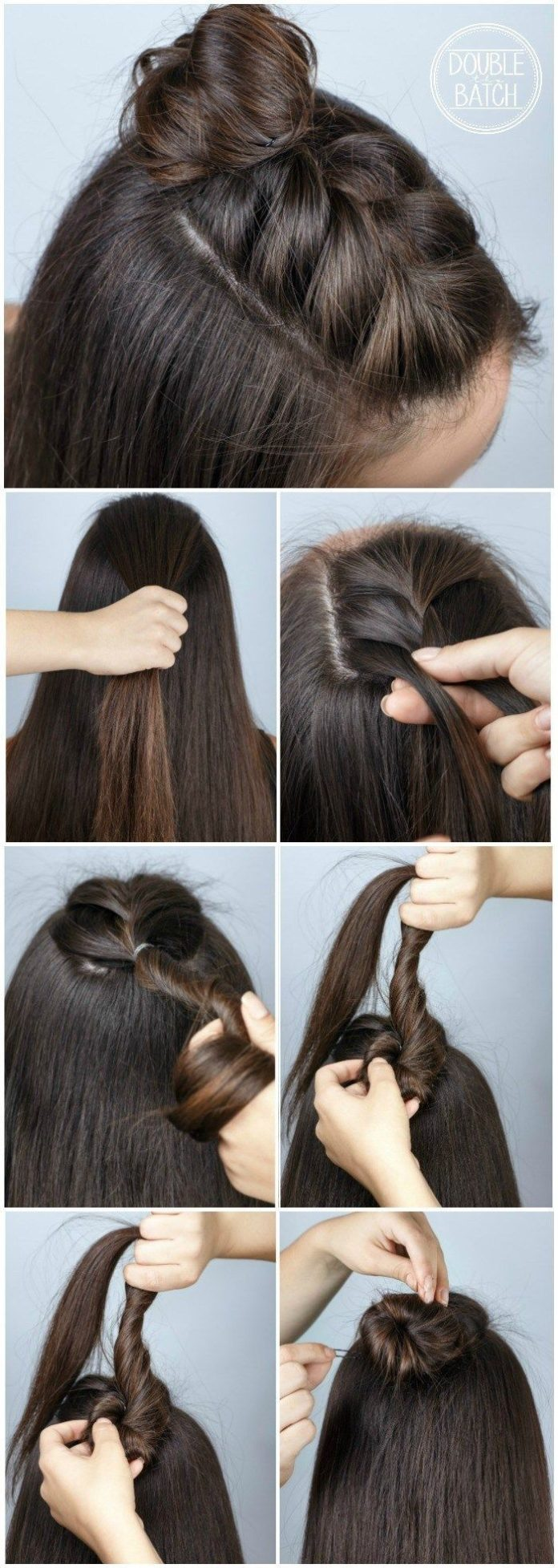 Easy Hair Ideas For School Braid Bun Beauty Haircut