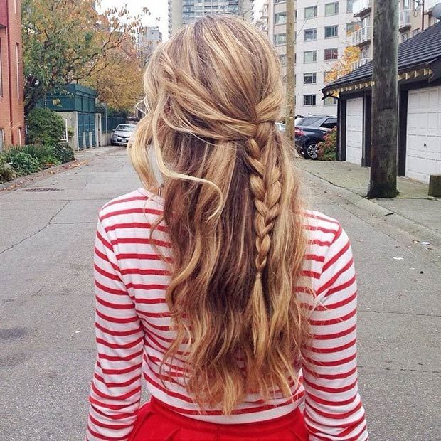 French braid half-up hairstyle