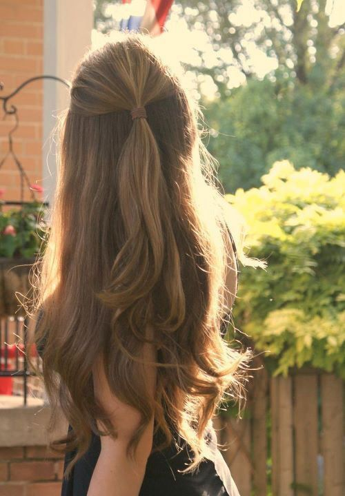 Half Up Half Down Hairstyle For School