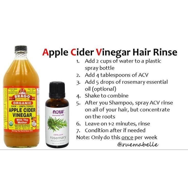 "0 Likes, 1 Comments - Rue Mabelle on Instagram: ""Apple Cider Vinegar Hair Rins..."