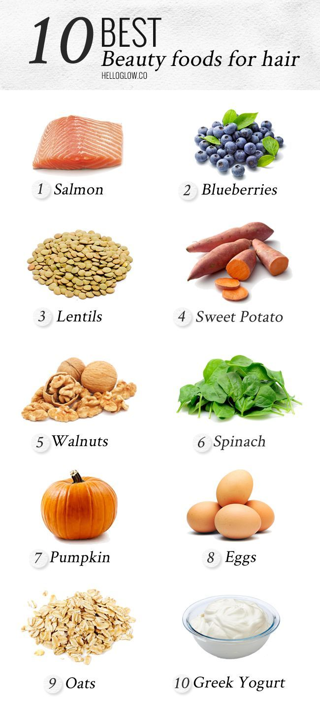10 Best Foods for Healthy Hair | HelloGlow.co