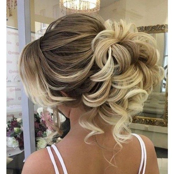 45 Most Romantic Wedding Hairstyles For Long Hair ❤ liked on Polyvore featurin...