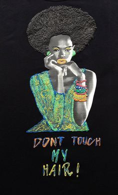 Afro T-shirt Painting 3d Natural Hair Curly This is one of my Afro Natural hair ...