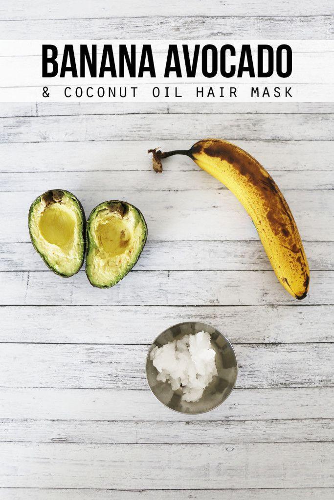Banana Avocado and Coconut Oil Hair Mask - Hello Nature