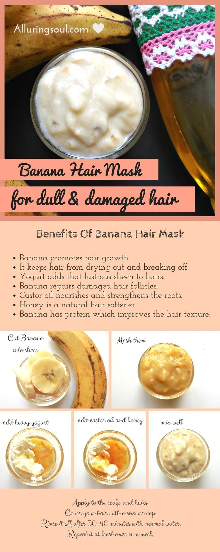 Banana Hair Mask is best for hair as it provides nutrients to the dull & damaged...