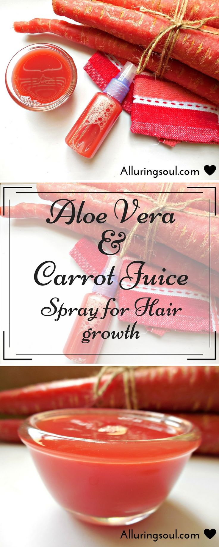 Carrot Hair Growth  Carrot hair growth spray mixed with aloe can be a perfect co...