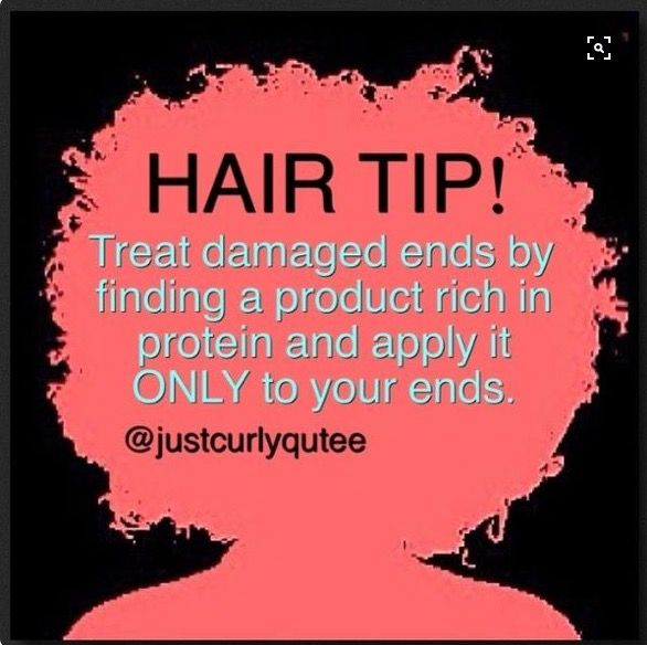 Damage ends??? Get a product that's rich in protein!!! #HairTip