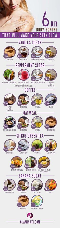 DIY Body Scrubs That Will Make Your Skin Glow And#8211; Infographic ★ See more...