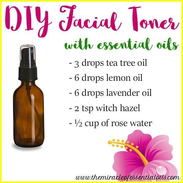 DIY Essential Oil Face Toner for Oily Skin