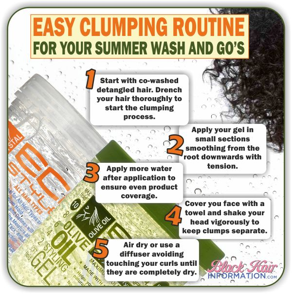 Easy Clumping Routine For Your Summer Wash And Go's  www.blackhairinfo...