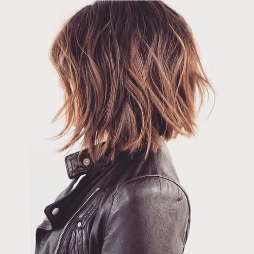 Edgy messy bob i would consider doing this to my hair when i get tired of my lon...