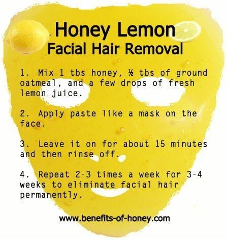 Honey Lemon for facial hair removal hairsheddingenius...