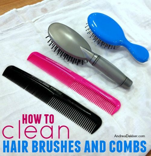 how to clean hair brushes and combs