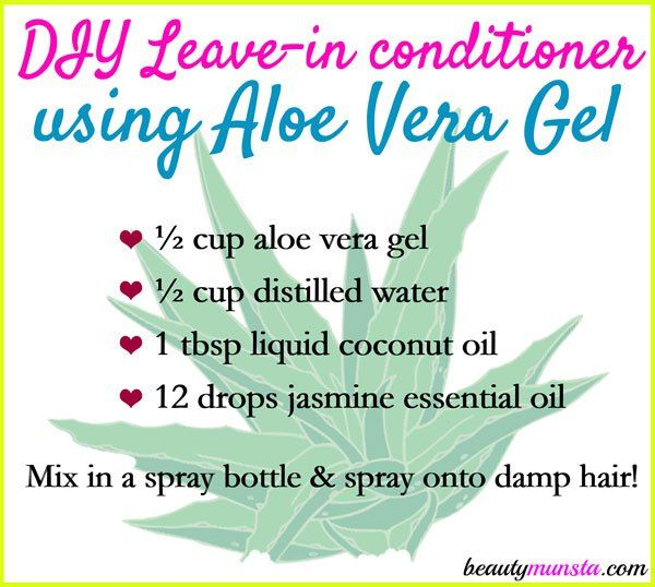Make your own DIY aloe vera leave-in conditioner to improve your hair's textur...