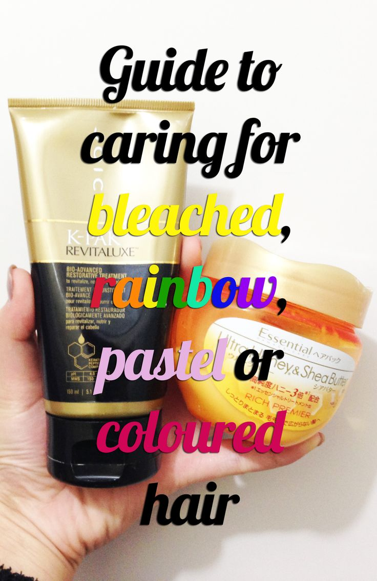 Pin now read later: Guide to caring for bleached, rainbow, pastel or coloured…