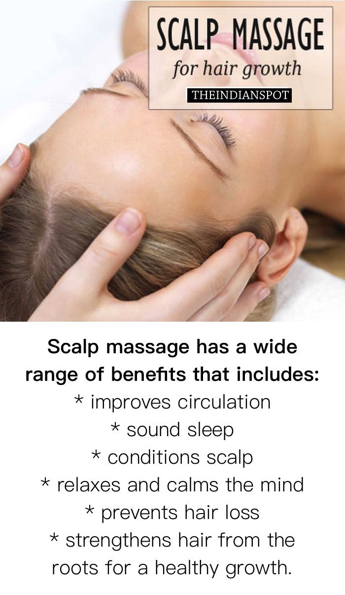 Scalp massage benefits and treatment for hair growth