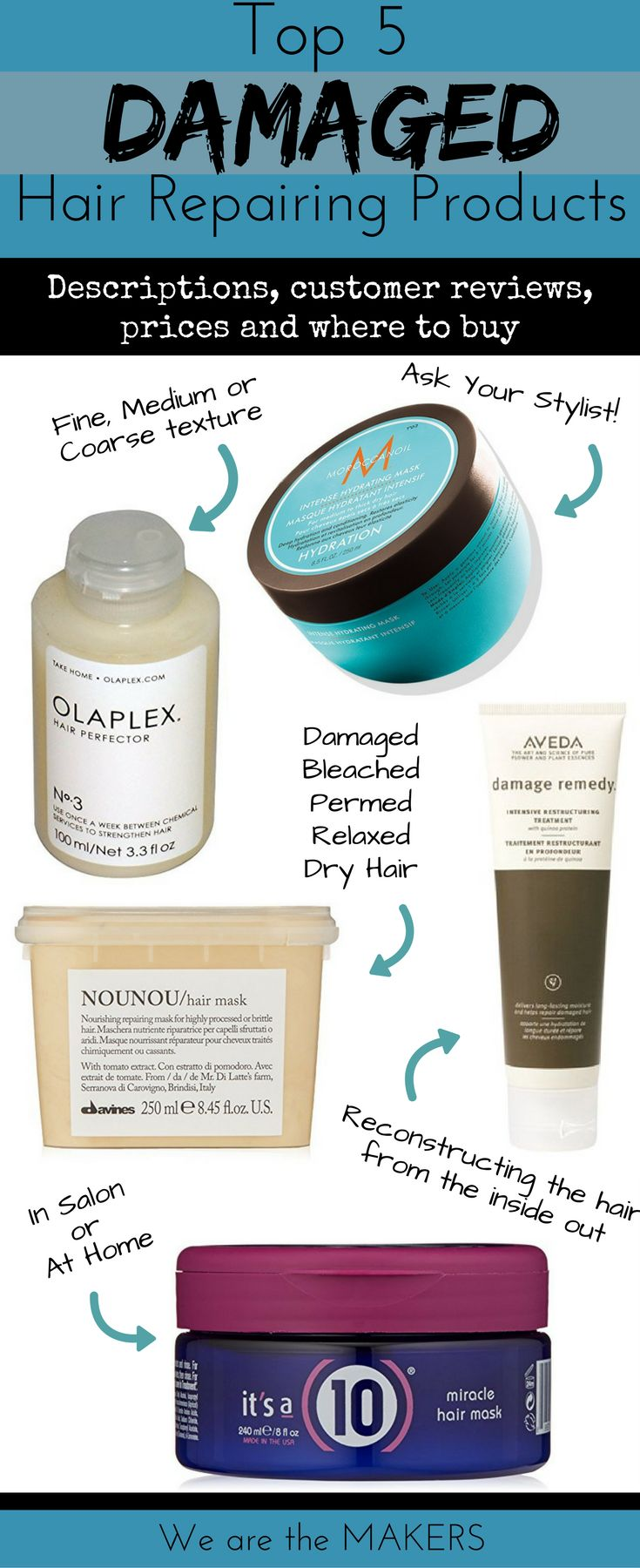 The best hair products for damaged hair repair. Deep conditioning treatments for...
