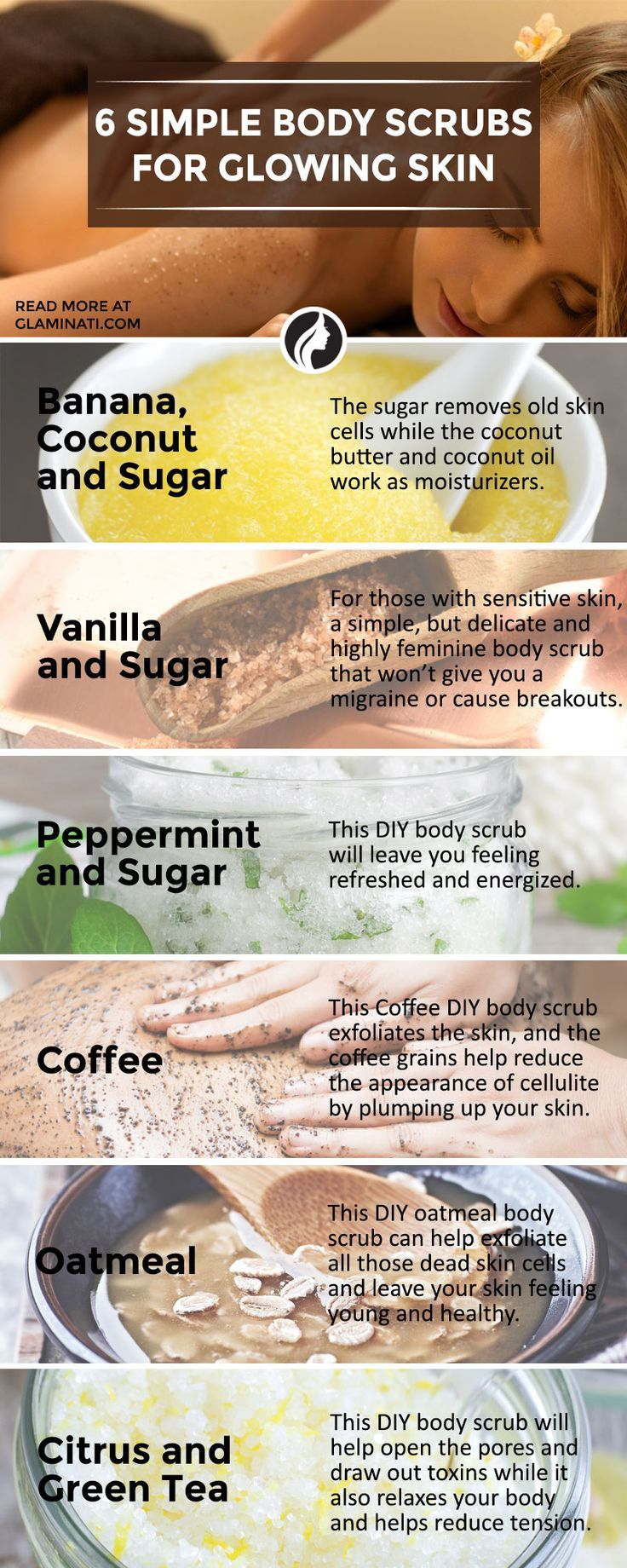 There are plenty of simple DIY body scrubs recipes that you can easily make at h...
