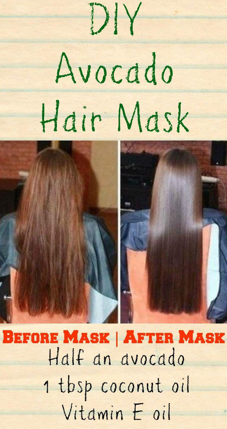 This DIY avocado hair mask for dry hair will fix damaged strands, repair split e...