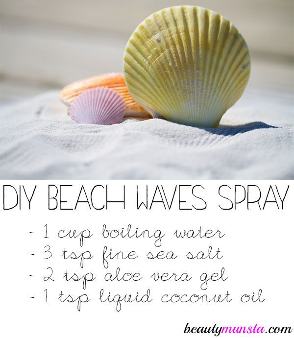 Turn your hair into a mass of beautiful beach waves using this DIY sea salt spra...