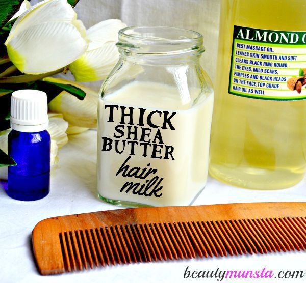 You gotta try this shea butter hair milk recipe for soft, silky and manageable t...