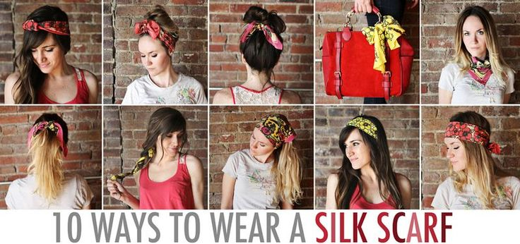 10 ways to wear a silk scarf