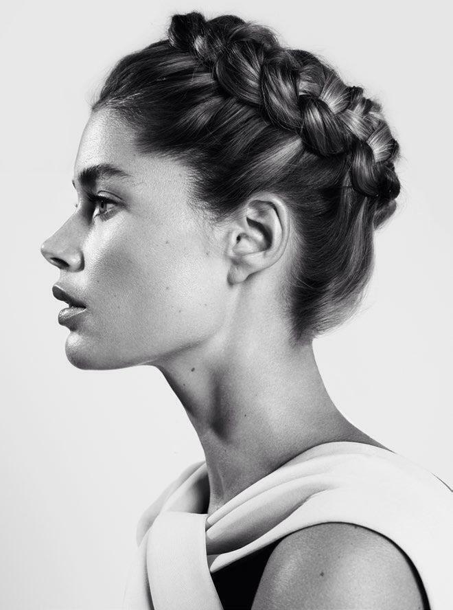 A crown of braids.