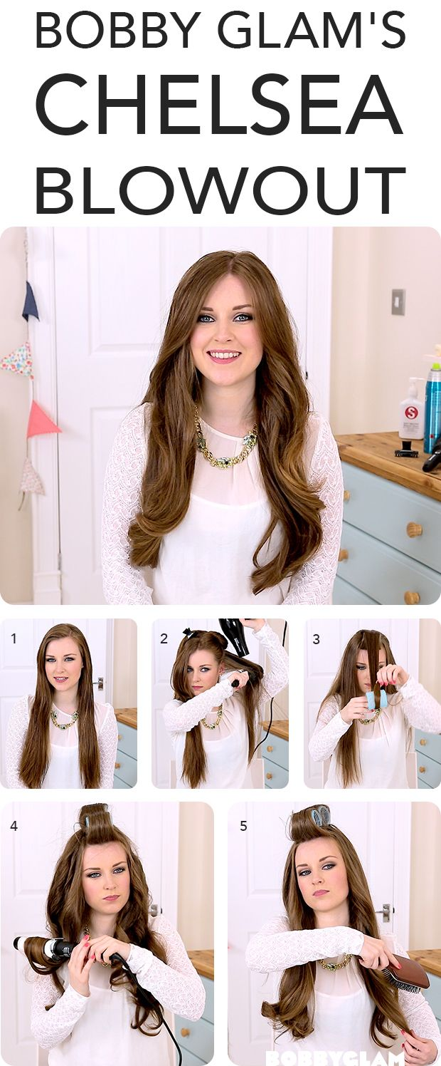 Bobby Glam's Made In Chelsea Blow Dry- Hair Tutorial. Has a nice blog with l...