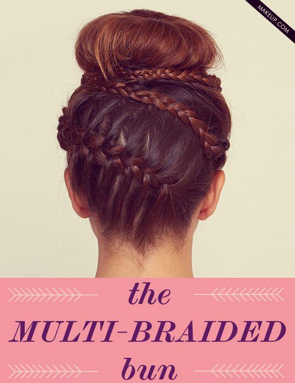 braided bun hair tutorial