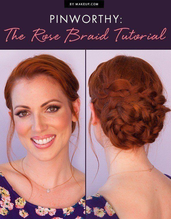Braids are having a major hair moment right now and we love this rose braid look...
