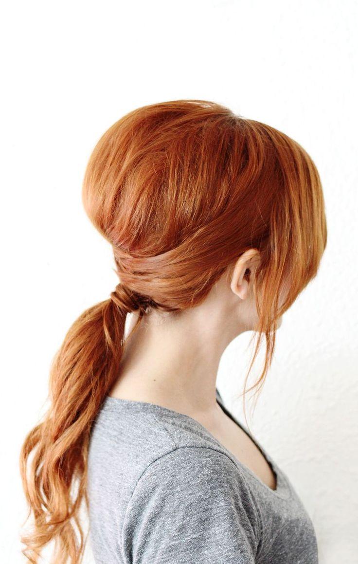 Crisscross ponytail