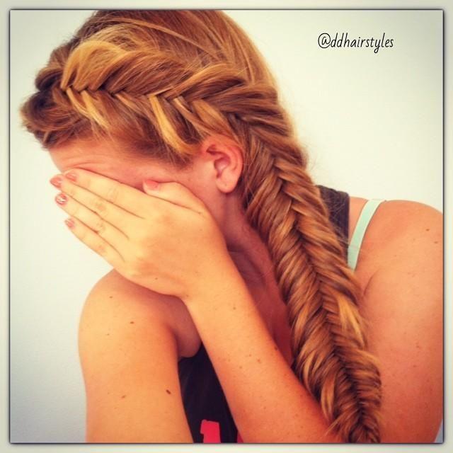 Dutch fishtail braid - too cute!