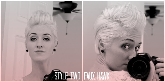 Edgy faux hawk tutorial