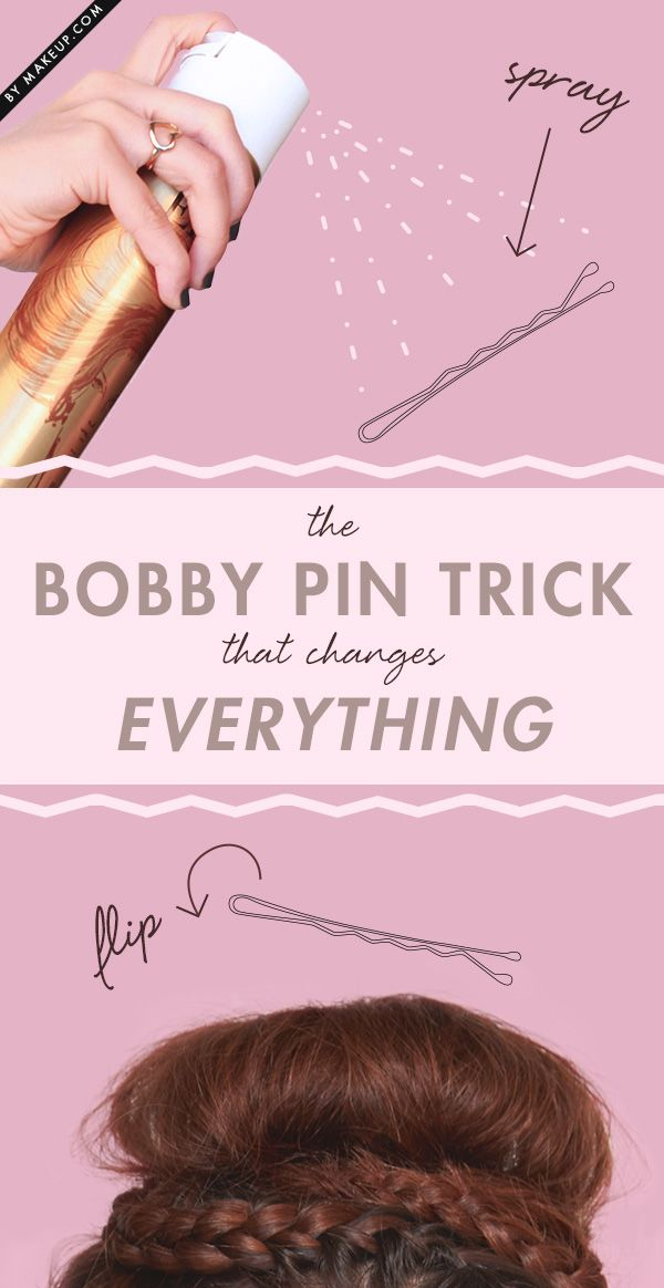 Make your hairstyle last all day with this quick and easy bobby pin trick.