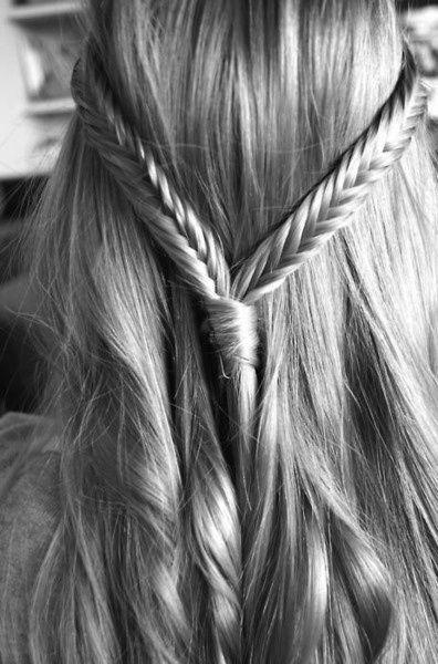 Fishtail braids and long hair!
