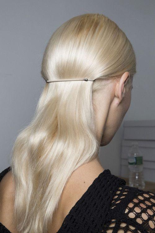 Gorgeous platinum blonde hair color.