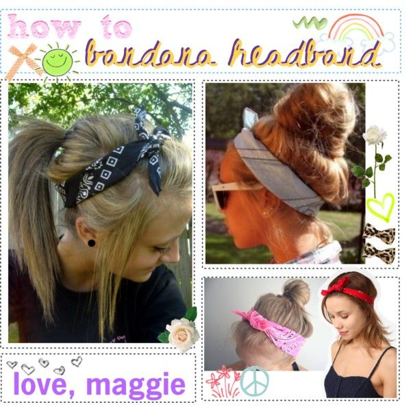 Headband bandanas hair-tutorials