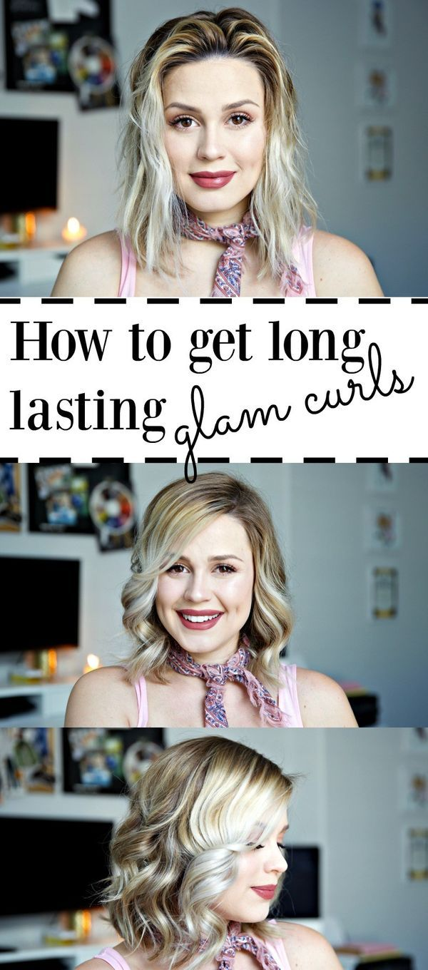 How to get glam curls | How to have long lasting curls | Bob curls | Easy curls ...