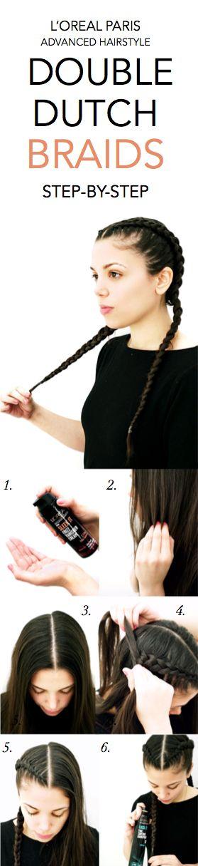 How to get sleek Double Dutch Braids: 1. Apply Sleek It Frizz Vanisher Cream to ...
