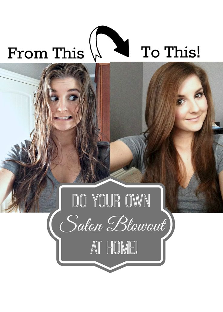 How to get that salon look for less! DIY Blowout Tutorial just like you get in t...