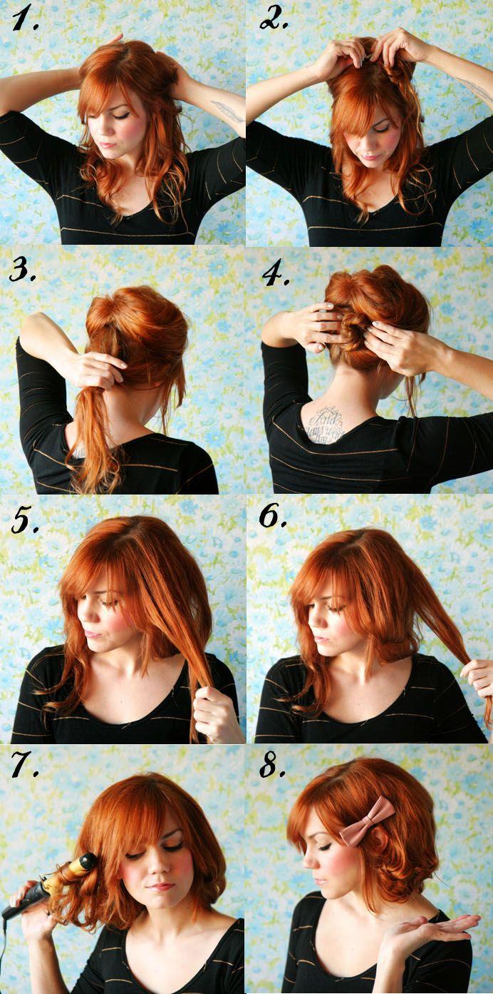 hair tutorials how to style long hair short.jpg Beauty
