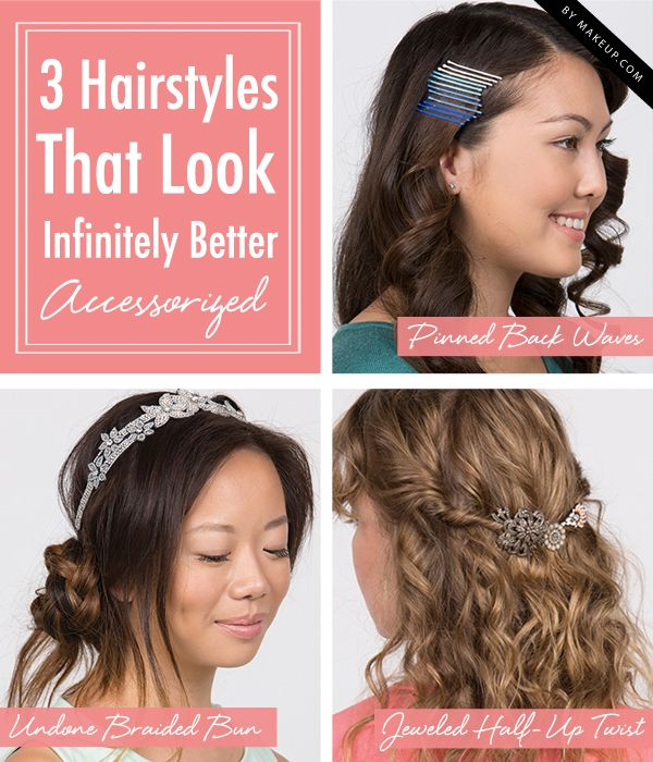 If you want to change up your look, add a hair accessory for a fun pop of color ...