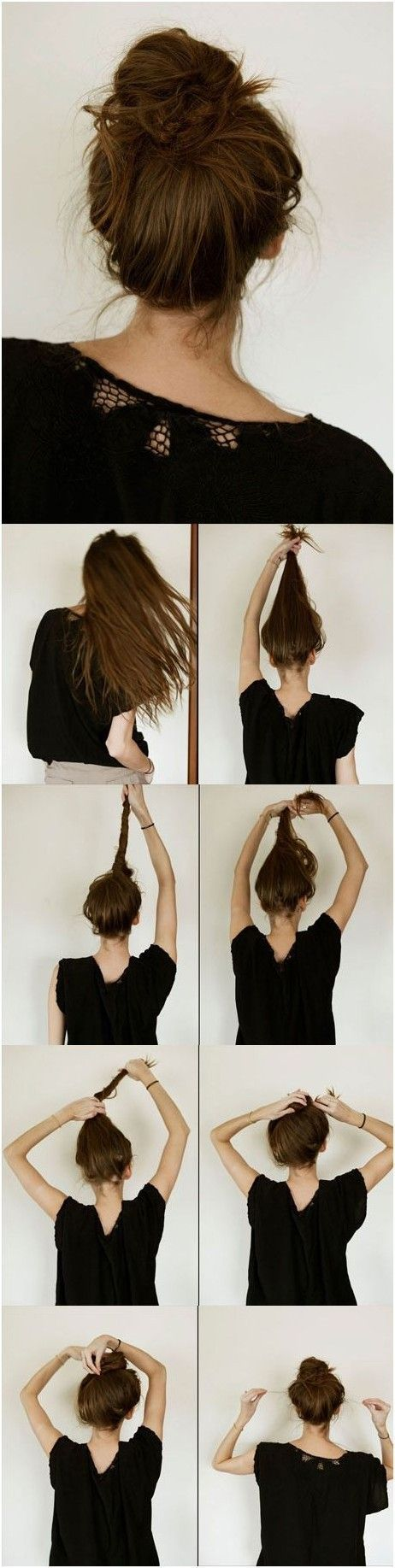 Messy Bun | This hairstyle doesn't look too complicated to make. | DIY Hairstyle...